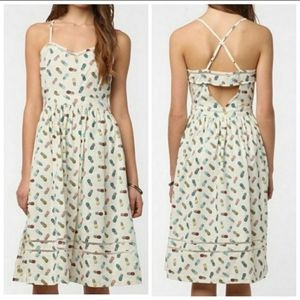 URBAN OUTFITTERS Pineapple Cutout Back Dre…